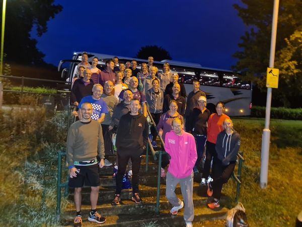 Bus with athletes